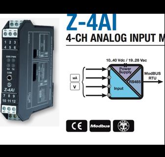 Chuyển đổi 4 kênh Analog sang Modbus RS485