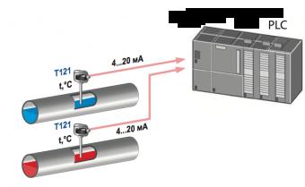 ứng dụng bộ chuyển đổi tín hiệu nhiệt độ T121