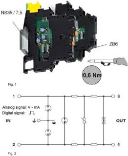 cách lắp bộ chống sét tín hiệu 4-20mA