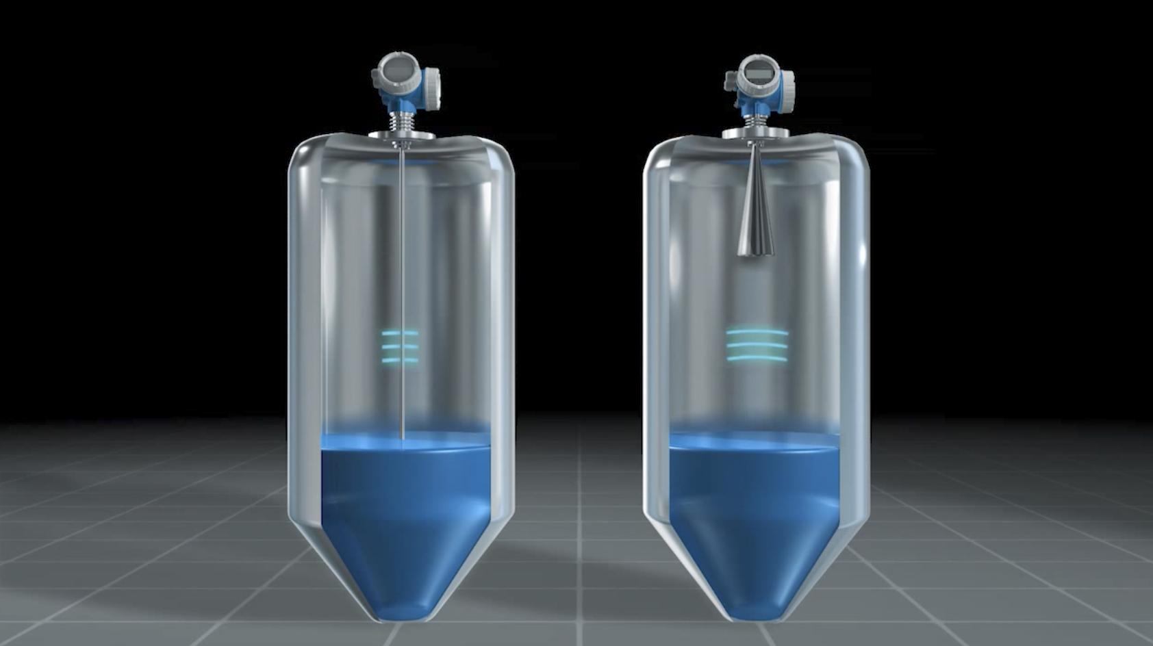 cảm biến đo mức liên tục chất lỏng bằng radar tiếp xúc