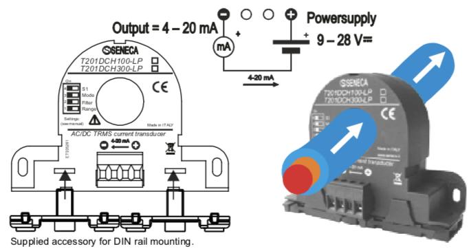 ứng dụng biến dòng analog 4-20mA T201DCH100-LP