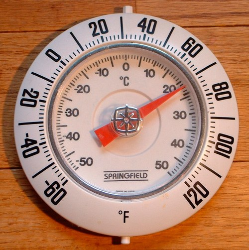 đồng hồ đo độ F độ C
