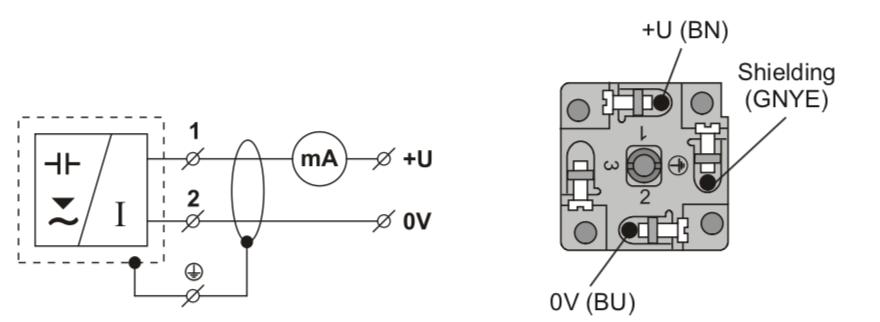 kết nối điện cảm biến đo mức axit CLM-36N-40