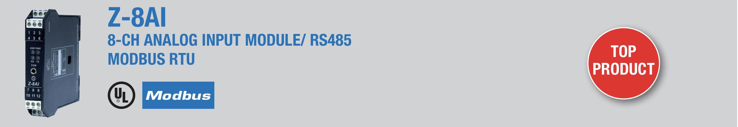 bộ chuyển đổi 4-20mA sang modbus RTU Z-8AI