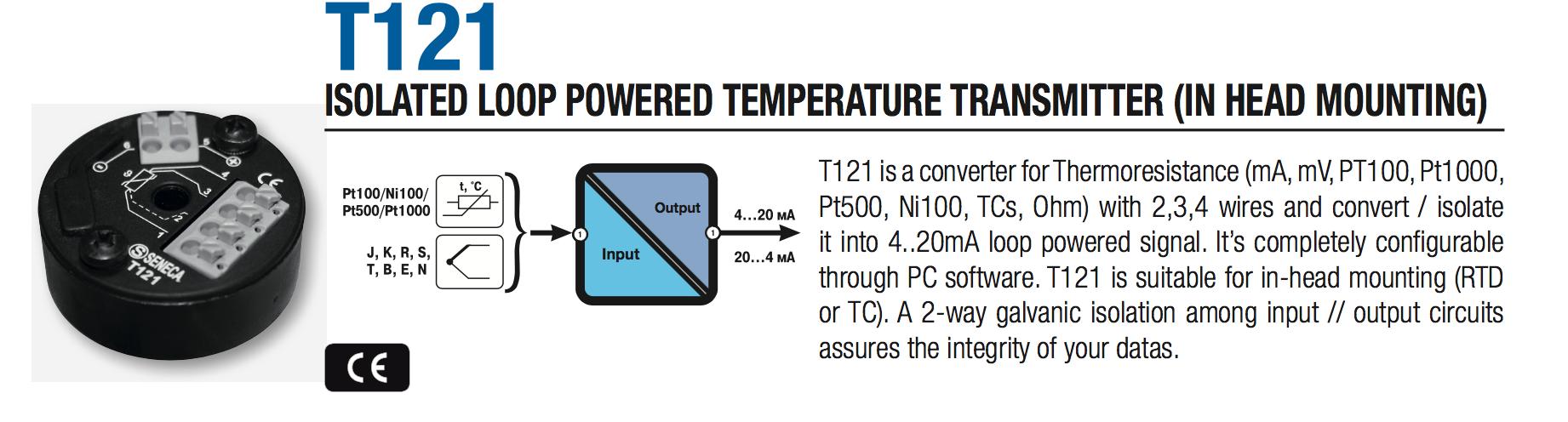 bộ chuyển đổi tín hiệu thermocouple Seneca T121