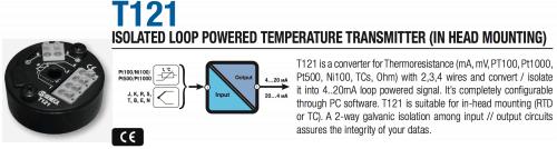bộ chuyển đổi tín hiệu nhiệt độ seneca t121