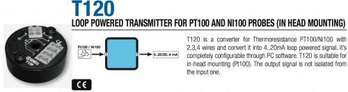 bộ chuyển đổi tín hiệu nhiệt độ t120