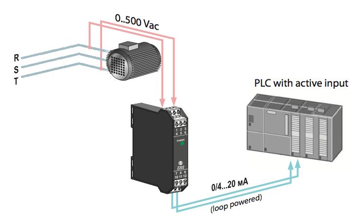 ứng dụng bộ chuyển đổi tín hiệu điện áp ac dc sang 4-20mA