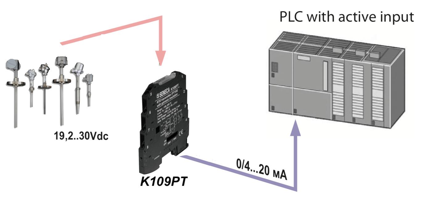 bộ chuyển đổi nhiệt độ Pt100 K109Pt