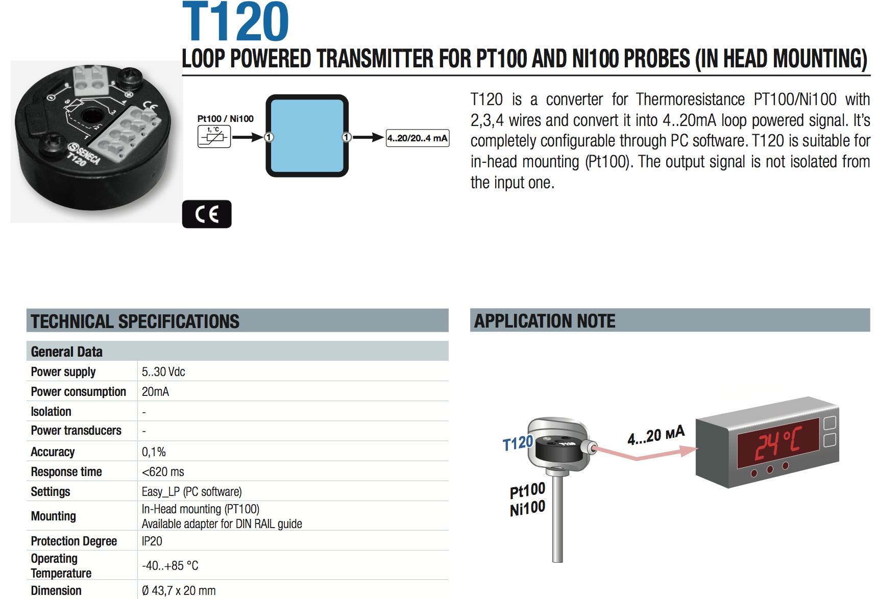 bộ chuyển đổi nhiệt độ pt100 3 dây head mounted