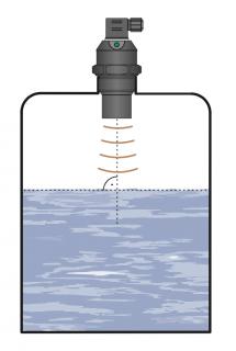 cảm biến đo mức liên tục bằng siêu âm không hiển thị
