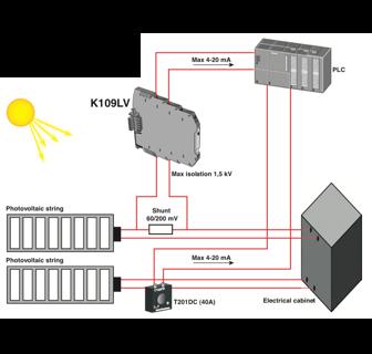 ứng dụng bộ chuyển đổi DC điện trở shunt ra 4-20mA 0-10V