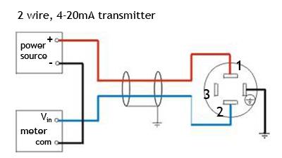 sơ đồ kết nối cảm biến áp suất 2 dây 4-20mA