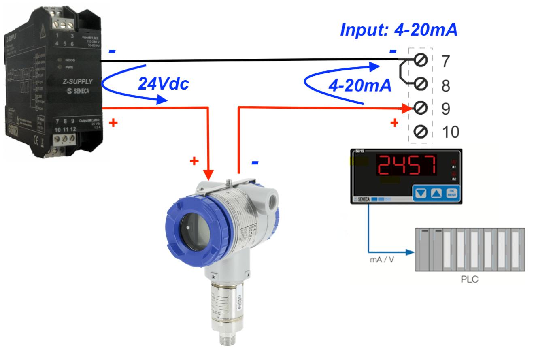 hiển thị giá trị áp suất qua nguồn 24Vdc