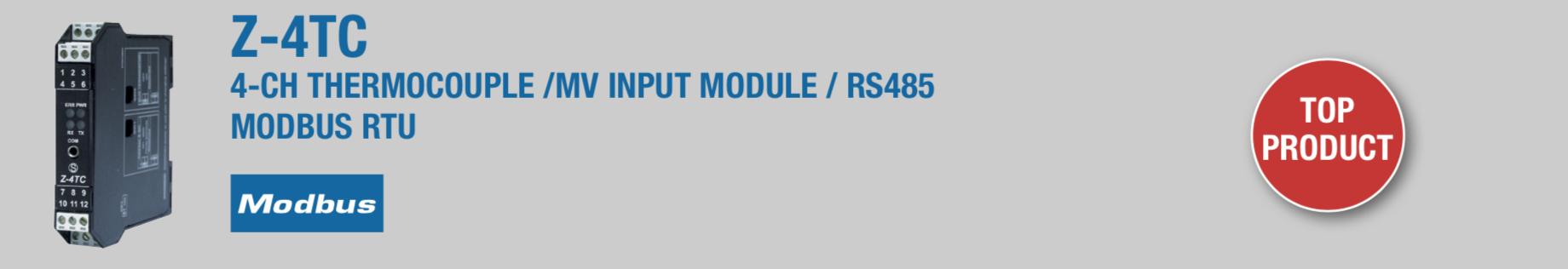 bộ chuyển đổi nhiệt độ 4 kênh ra modbus RTD RS 485 Z-4TC