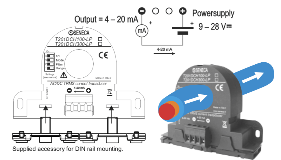 cách sử dụng biến dòng Analog 4-20mA T201DCH300-LP