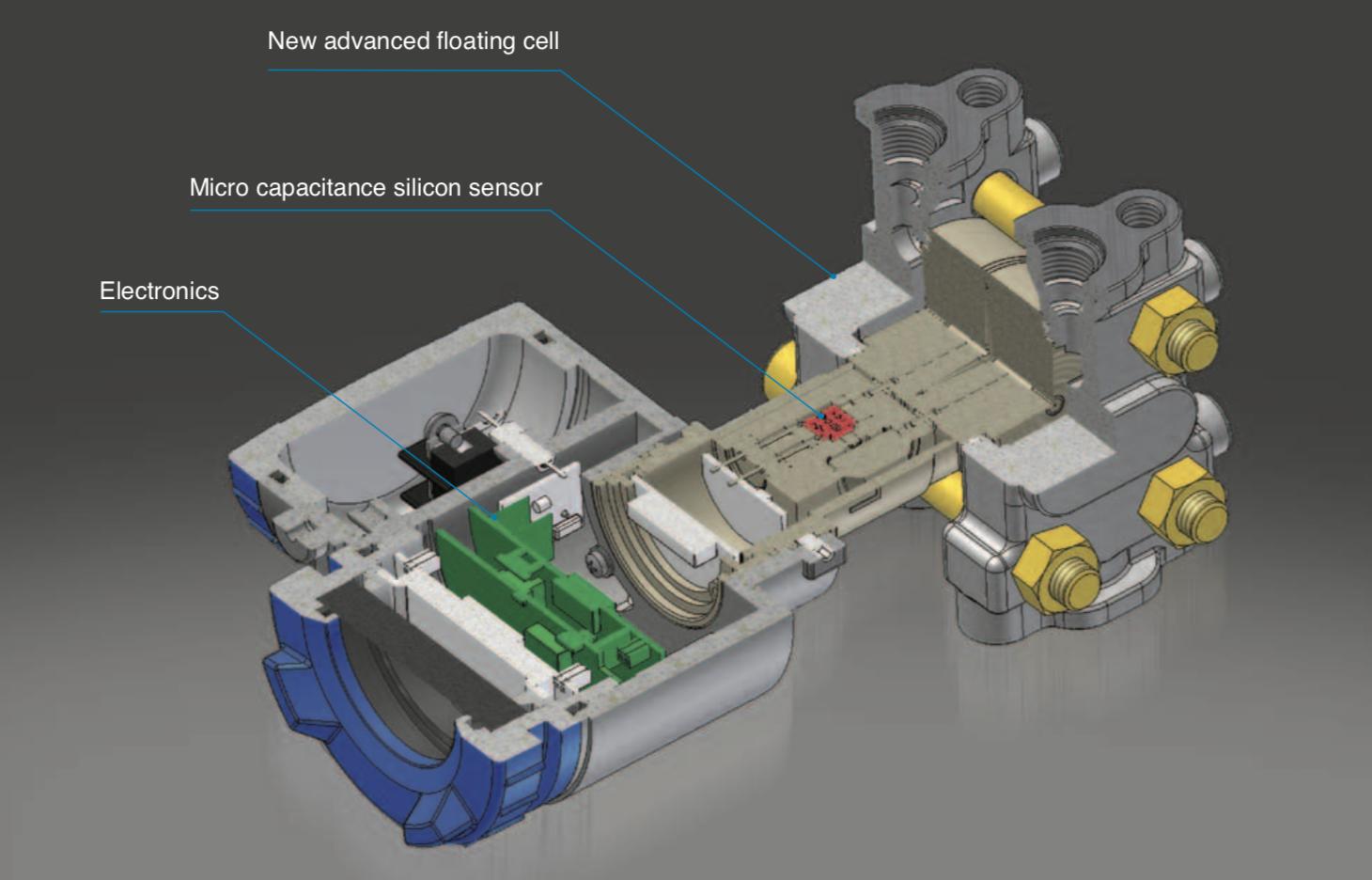 cấu tạo cảm biến chênh áp lò hơi FKC