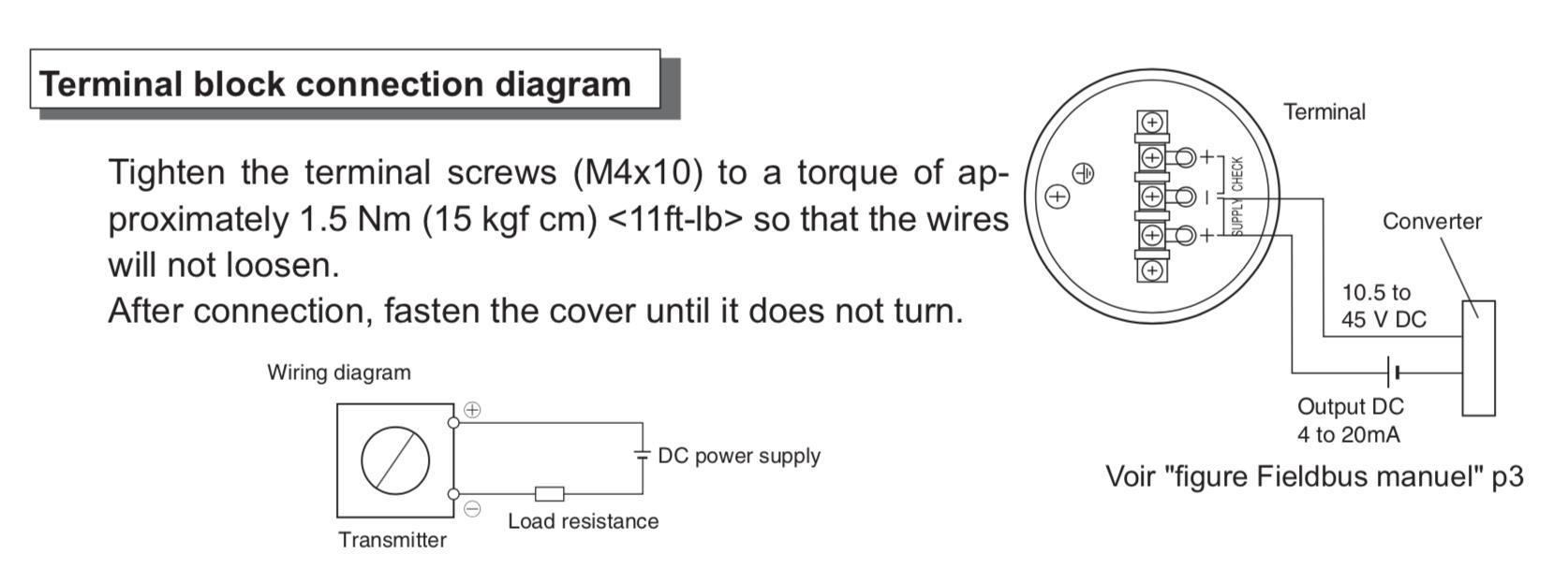 hướng dẩn kết nối tín hiệu ngõ ra cảm biến đo mức FKE