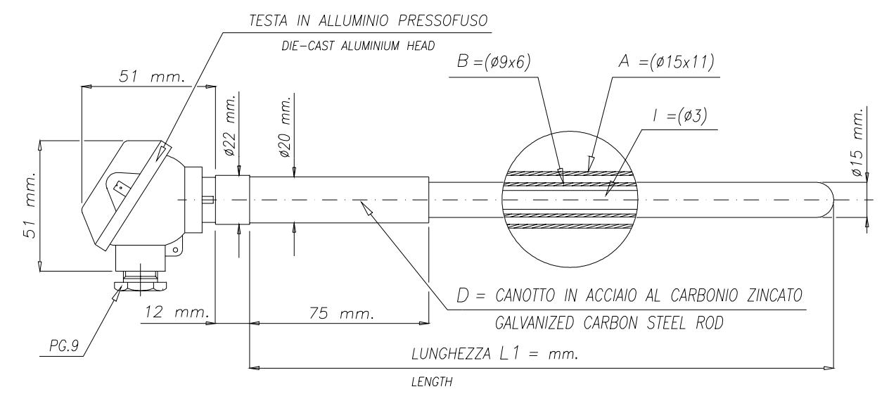cấu trúc cảm biến nhiệt can sứ