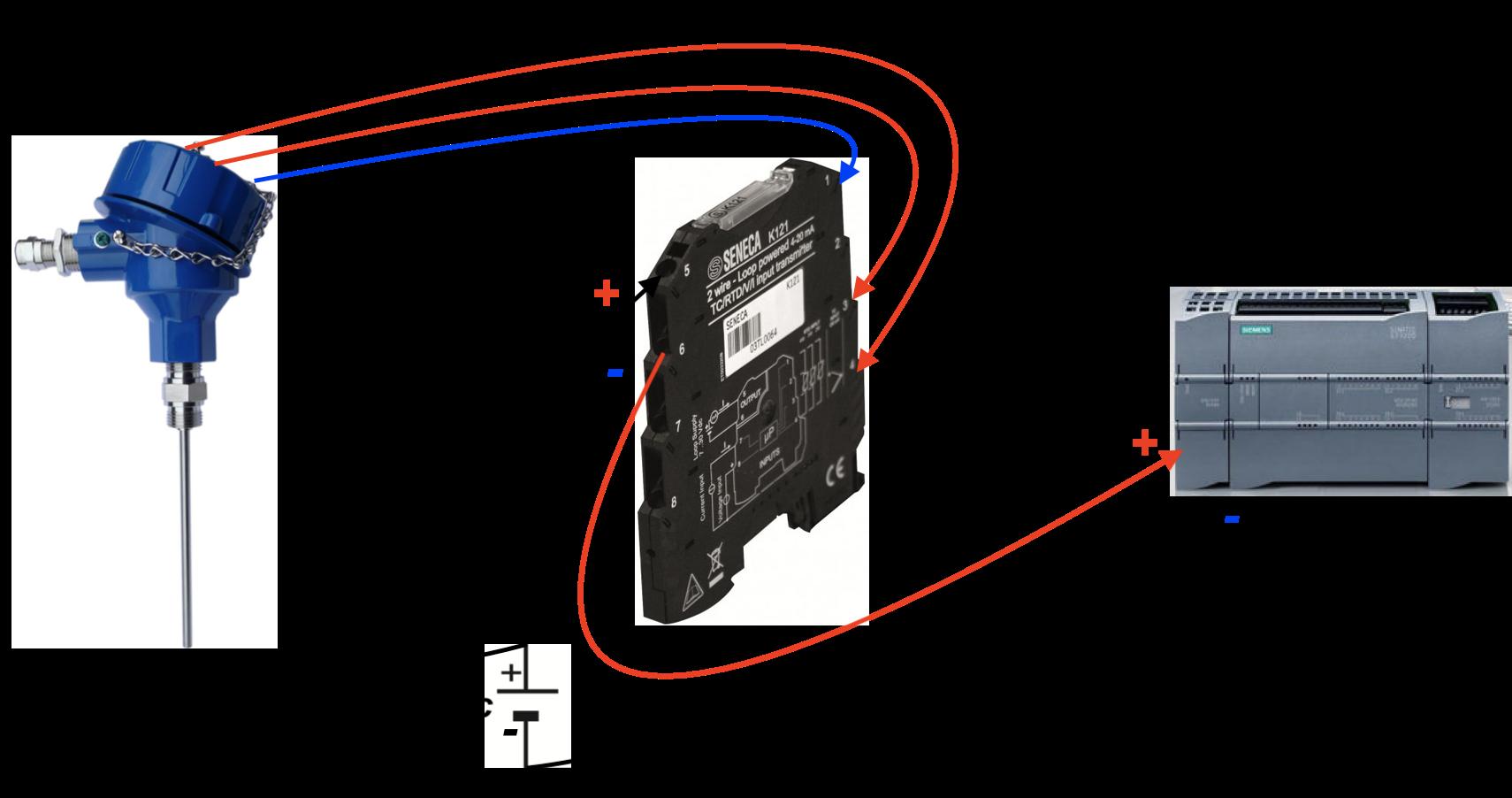 bộ chuyển đổi nhiệt độ pt100 ra 4-20mA K121