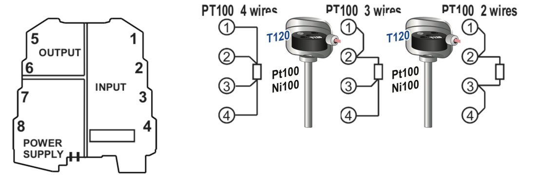 kết nối Pt100 với K109Pt