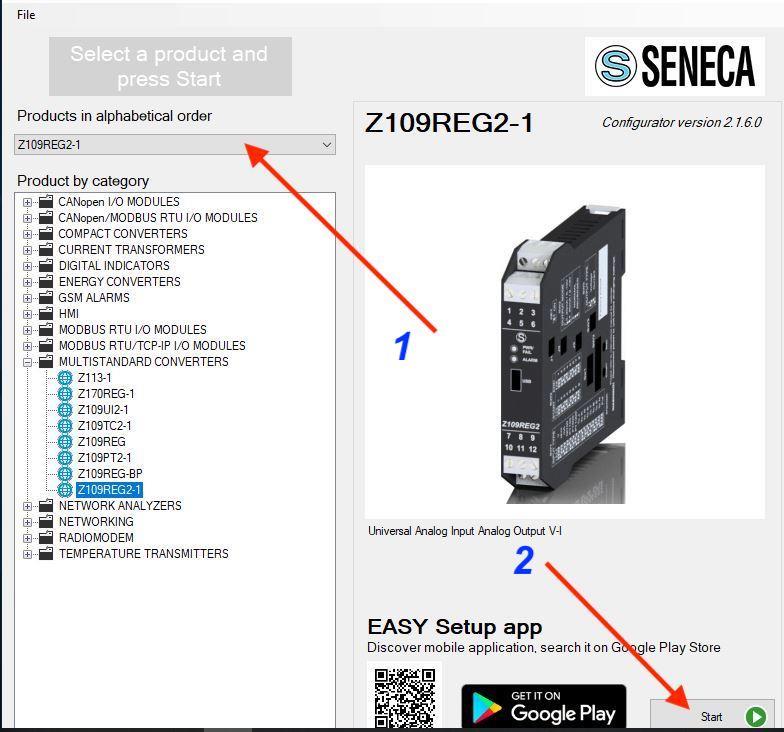 bước 1 cài đặt bộ chuyển đổi Z109REG2-1