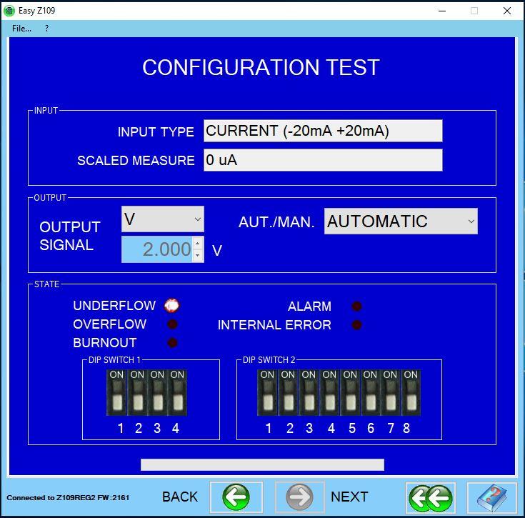 kiểm tra tín hiệu trực tiếp trên phần mềm easy setup