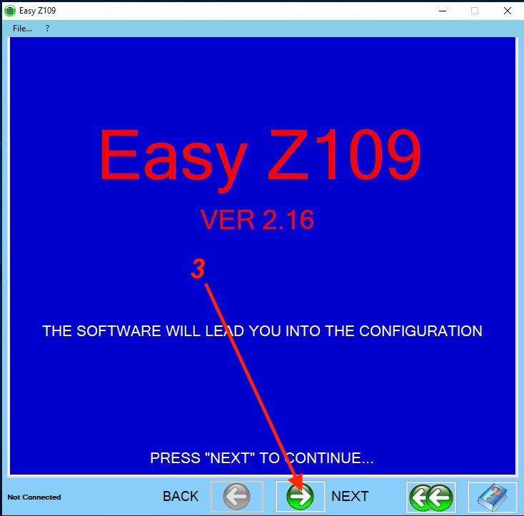 bước 2 cài đặt Z109REG2-1