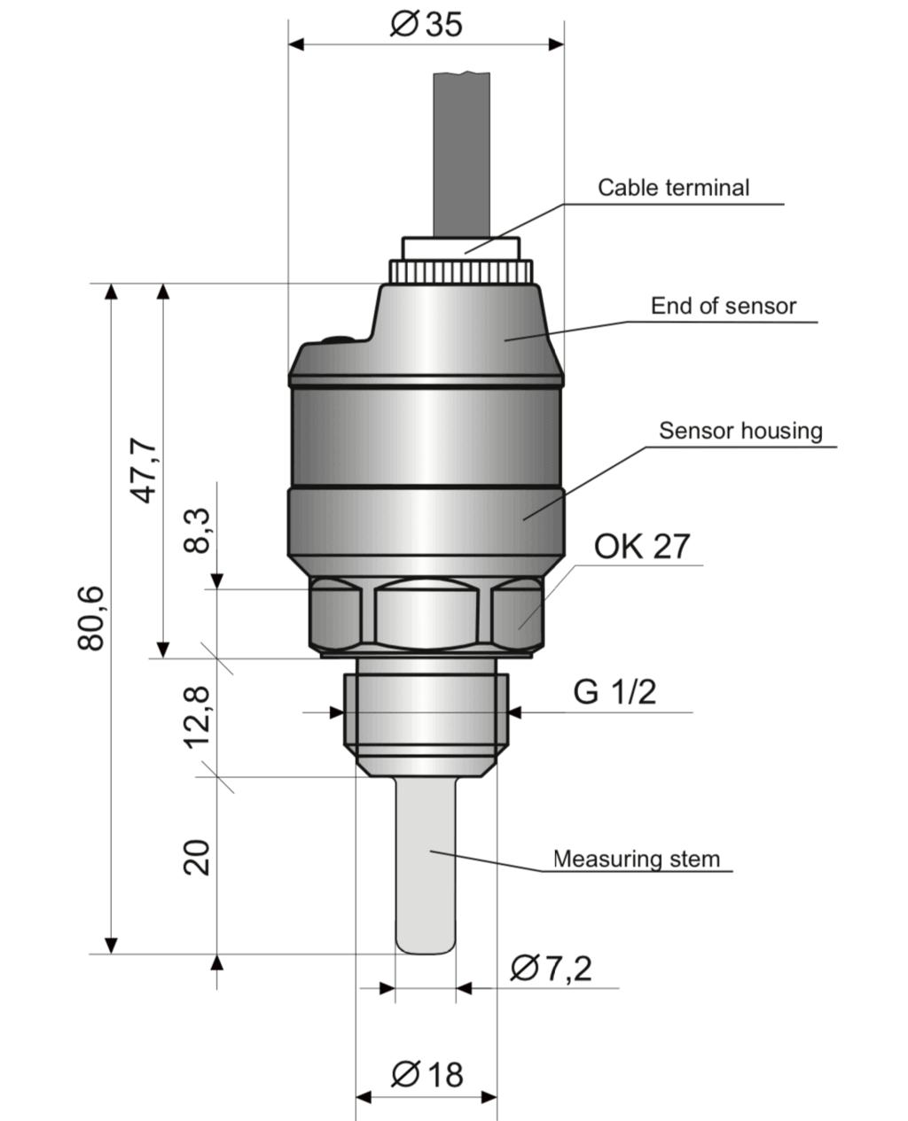 cấu tạo công tắc dòng chảy TFS-35N