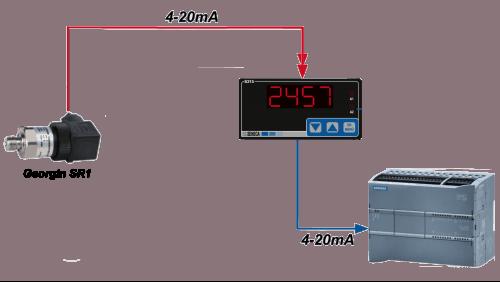 bộ hiển thị điều khiển áp suất 4-20mA