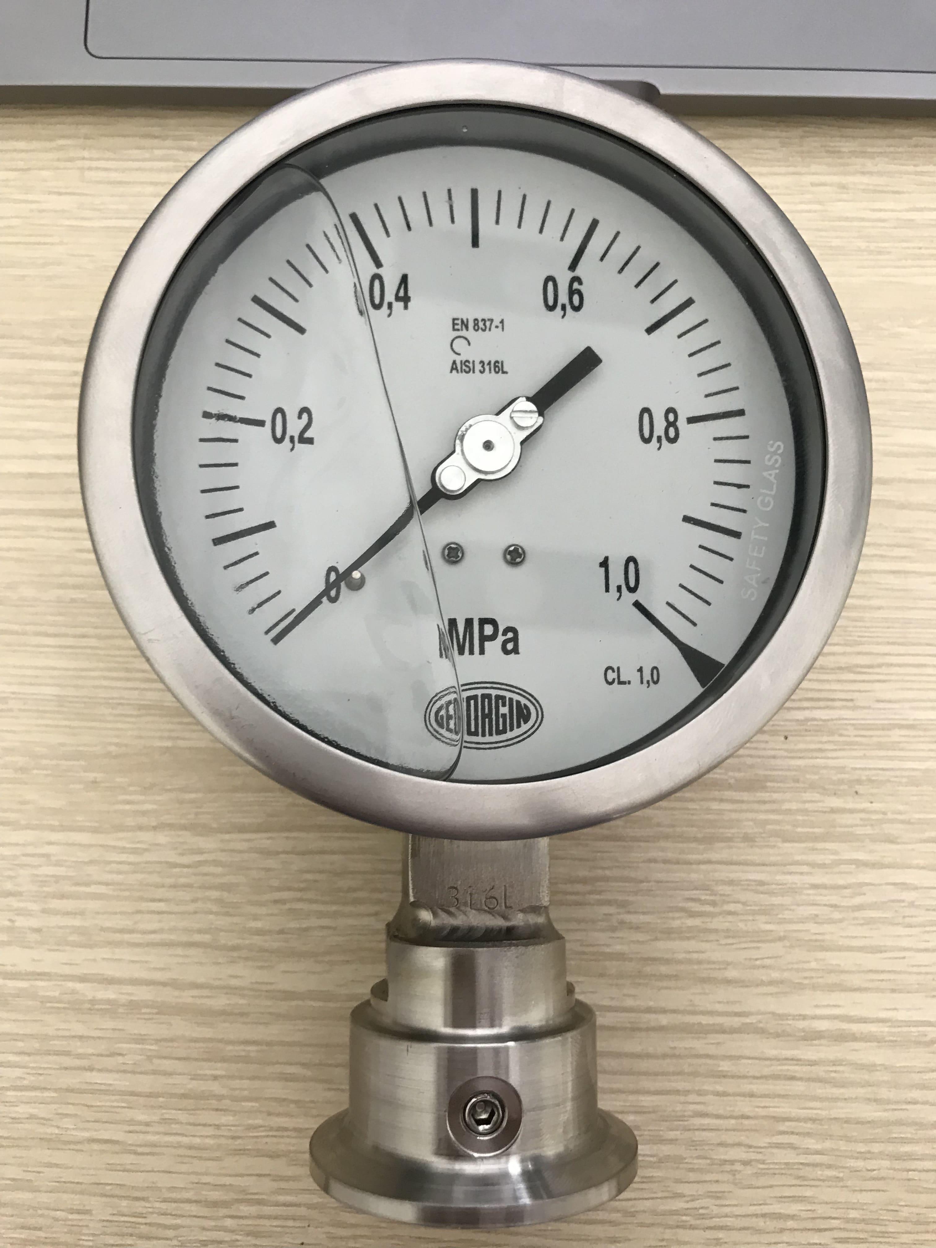 đồng hồ đo áp suất màng 0-1 Mpa