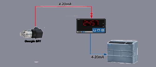 màn hình hiển thị áp suất 4 số