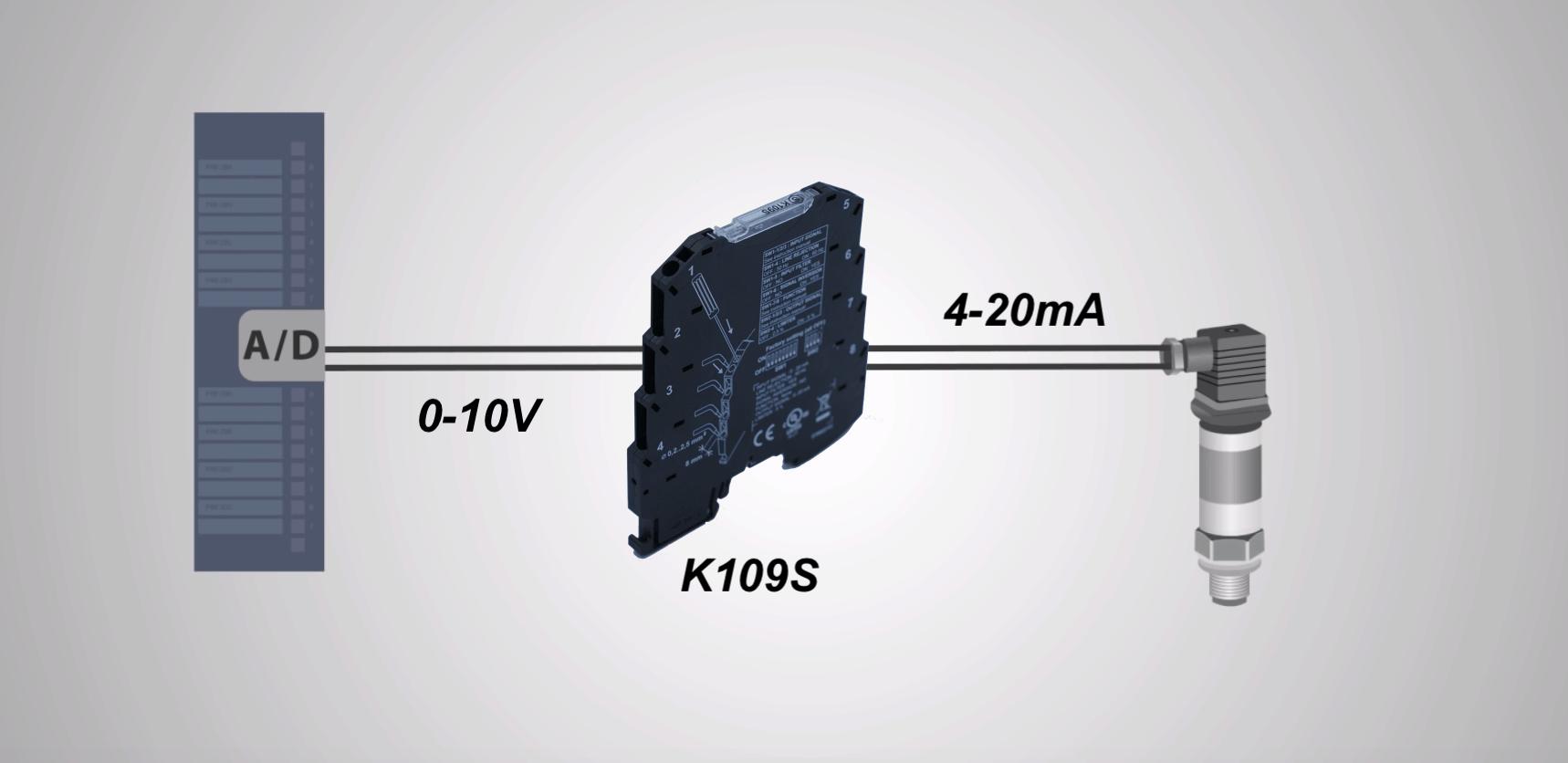 ứng dụng bộ chuyển đổi tín hiệu K109S