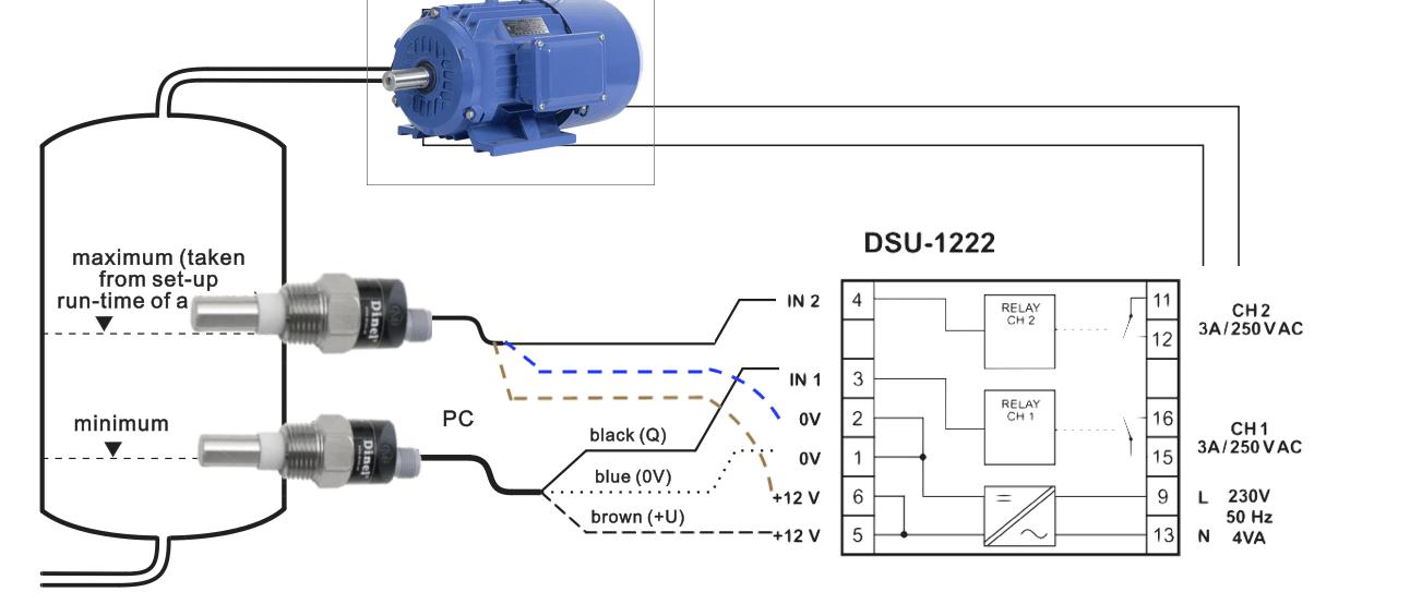 Ứng dụng cảm biến báo đầy - báo cạn mức dầu CLS-23N-10