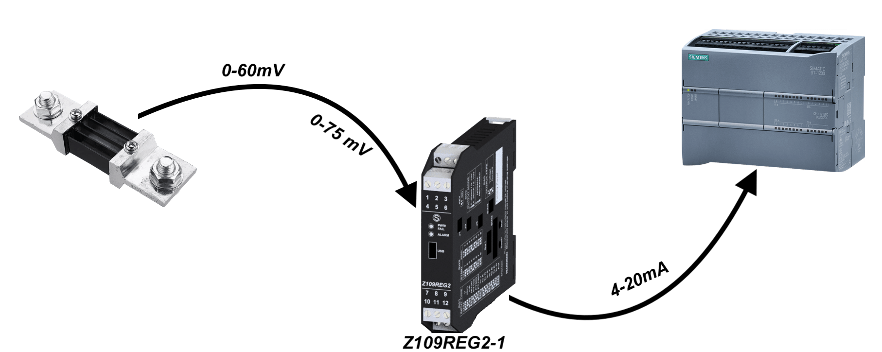 Bộ chuyển đổi tín hiệu 0-60mV 0-70mV sang 4-20mA