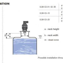 Cách lắp đặt cảm biến đo mức siêu âm ULM-53
