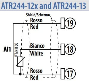 Đấu cảm biến vào ATR244