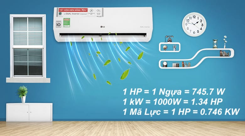 Cách tính 1 HP bằng bao nhiêu kW
