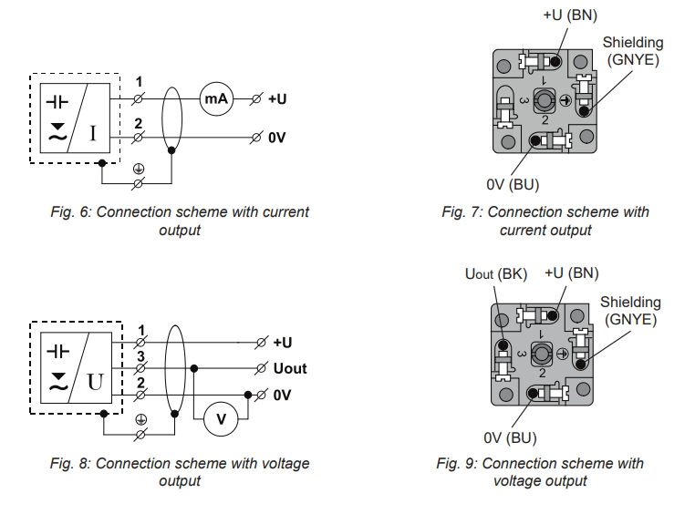 Sơ đồ chân cảm biến đo mức điện dung CLM-36