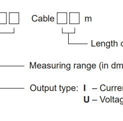 Bảng tra code cảm biến đo mức thuỷ tĩnh HLM-25C