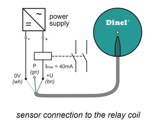 Kết nối cảm biến đo mức FLD-48N với role