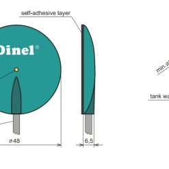 Kích thước cảm biến đo mức FLD-48N