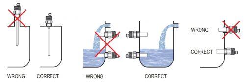 Lắp đặt cảm biến đo mức nước kiểu điện dung CLS-23