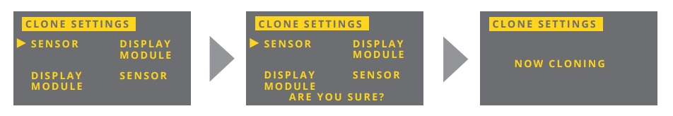 Cài đặt clone setting trên cảm biến siêu âm đo mức chất lỏng