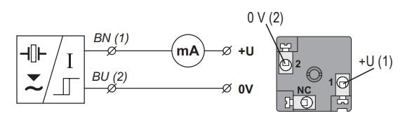 Tín hiệu ra S khi lắp cảm biến siêu âm