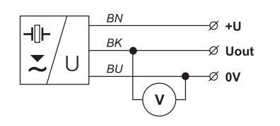Lắp cảm biến siêu âm với tín hiệu ra U
