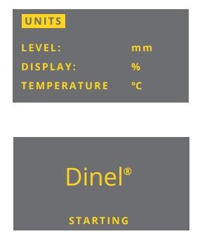 Màn hình khởi động cảm biến siêu âm đo mức chất lỏng ULM-70