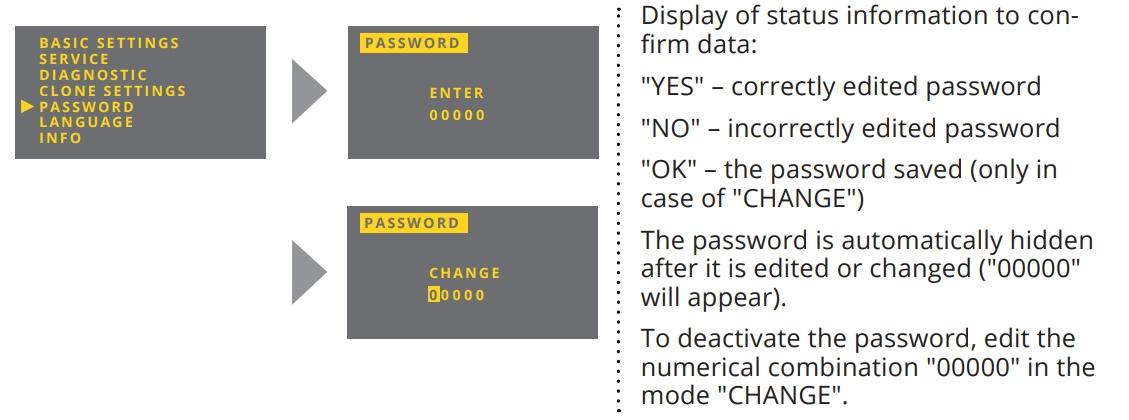 Cài đặt mật khẩu trên cảm biến siêu âm đo mức chất lỏng