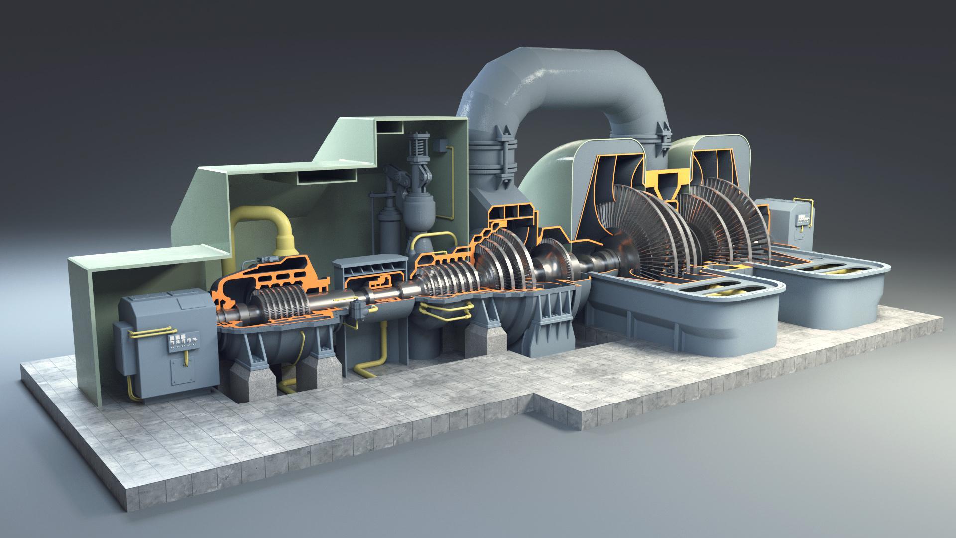 Cấu tạo tua bin hơi nước