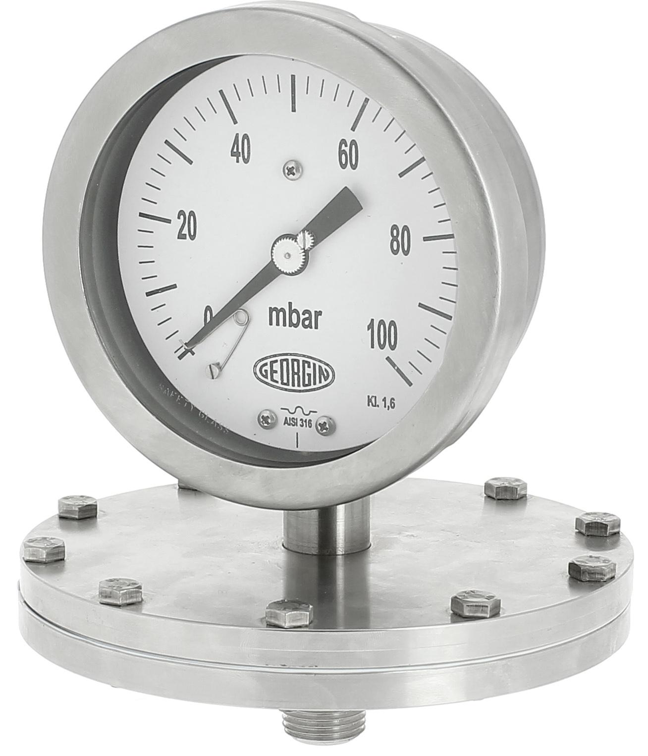 Đồng hồ áp suất màng đo áp thấp
